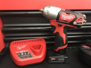 MILWAUKEE M12 3/8 IMPACT WRENCH KIT W 3.0 BATTERY AND CHARGER BRAND NEW for Sale in Virginia Beach, VA