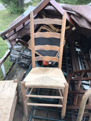 Wicker wooden table chairs for Sale in Beechgrove, TN