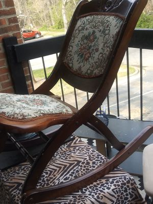Antique mini (folding) Rocking Chair for Sale in Durham, NC