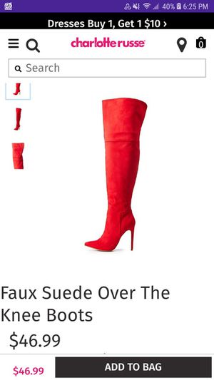 Red thigh boots size 8 for Sale in St. Louis, MO