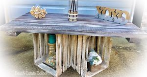 Rustic Coffee Table Used for Staging Homes for Sale in Virginia Beach, VA