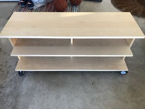 Tv console on casters for Sale in Winter Haven, FL