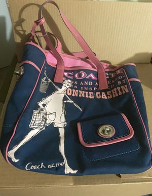 Authentic Coach Navy Blue Girlie Large Tote Bag for Sale in Schaumburg, IL