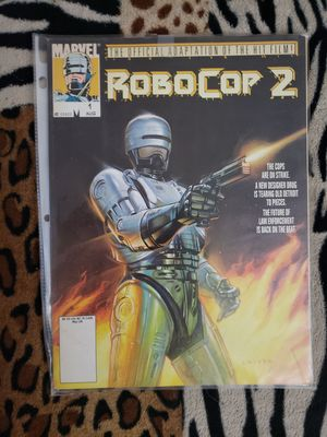 Robocop 2 Official Marvel Comic Book Magazine Movie Adaption Chido Cover Art for Sale in Hemet, CA