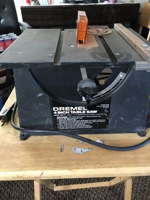 """Dremel 580-2 4"""" mini table saw for Sale in Salinas, CA"""