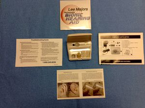 LEE MAJORS RECHARGEABLE BIONIC HEARING AID!! GREAT CONDITION for Sale in MARTINS ADD, MD