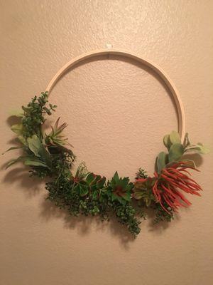 Succulent Hoop Wreath for Sale in Sun City, AZ