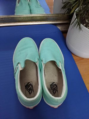 Women's blue teal vans size 7 for Sale in Tacoma, WA