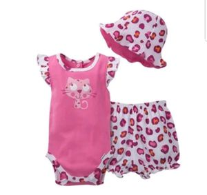 GERBER Girls 3 PC Bodysuit Bloomers And Hat Set Pink Cat 0-3 Months Condition:New Without Tags for Sale in Germantown, MD