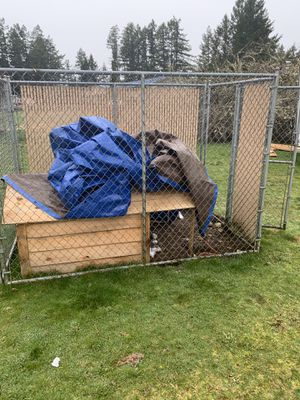 Cyclone fence kennel for Sale in Tacoma, WA