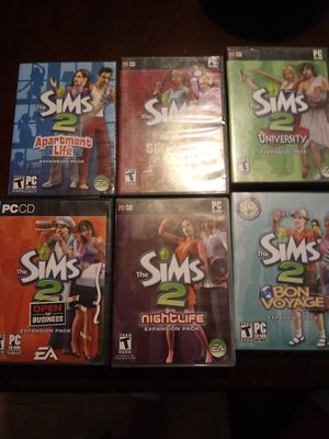 Sims 2 PC Video game and expansion packs for Sale in Columbia, SC