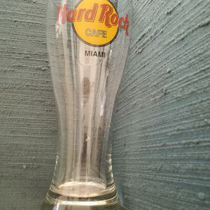 Miami hard Rock Tall Beer Glass for Sale in West Palm Beach, FL