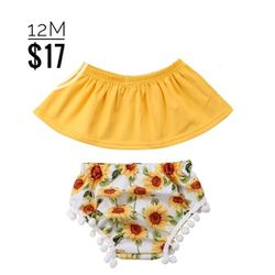 Sunflower 🌻 3 Pc Baby Outfit for Sale in Whittier,  CA