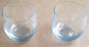 Set of 2 Blue tint beautiful juice glass for Sale in Three Rivers, MI