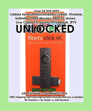Amazon fire TV stick loaded for Sale in New York, NY