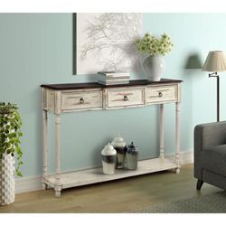 Brand New 59 in. Gray Standard Rectangle Wood Console Table with 4-Drawers for Sale in Beverly Hills,  CA