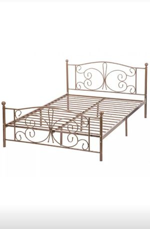Full size bed frame and foundation for Sale in Newark, OH