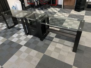 Glass Desks and Stand for Sale in Long Beach, CA