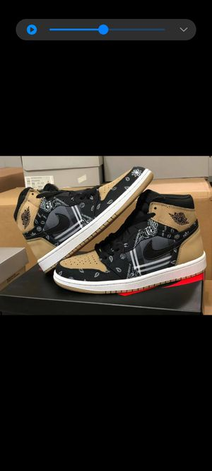 Travis Scott Jordan 1 and TS Dunk inspired hybrid custom, size 10.5 for Sale in Methuen, MA