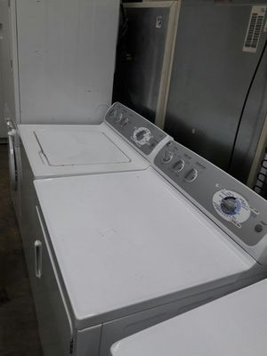 GE TOP LOAD washer and dryer set great working condition big capacity stainless steel drump for Sale in Fort Washington, MD