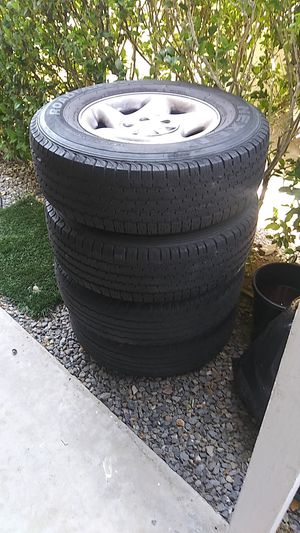 """4/16"""" 6 lug Toyota Tacoma rims and tires for Sale in San Marcos, CA"""