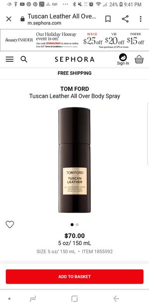 Tom Ford Tuscan Leather Body Spray for Sale in Saint Paul, MN