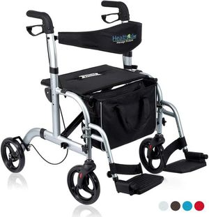 Health Line 2 in 1 Rollator-Transport Chair w/Paded Seatrest for Sale in Ontario, CA