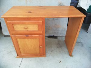 Pine desk with drawer and cabinet with shelf for Sale in La Mirada, CA