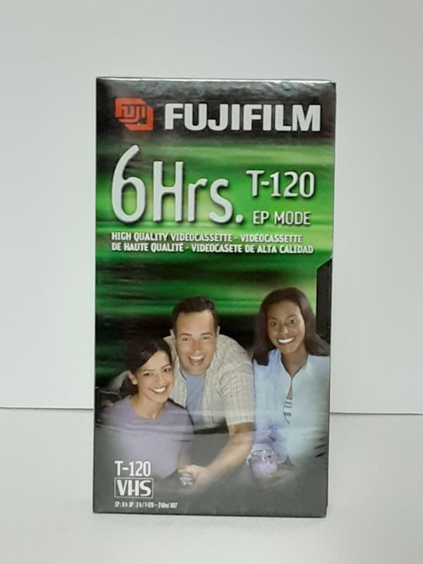 New Sealed Blank VHS Tape FUJI T-120 6-Hour Video Cassette VCR Camera