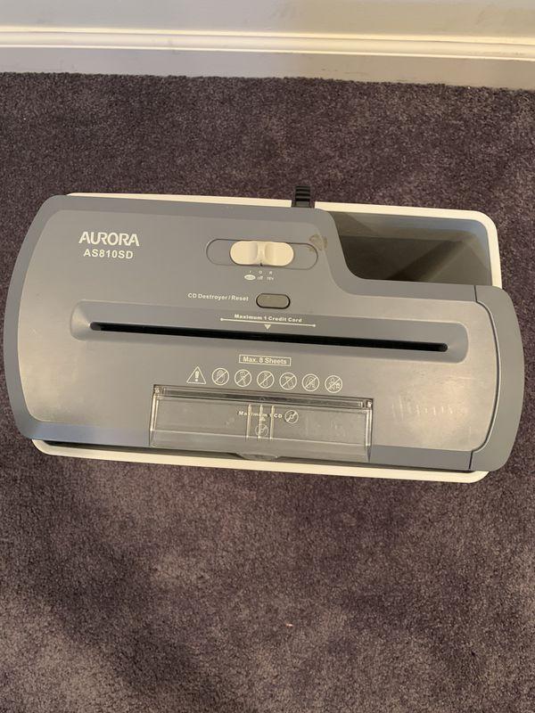 Aurora 8 Sheet Strip-Cut Shredder