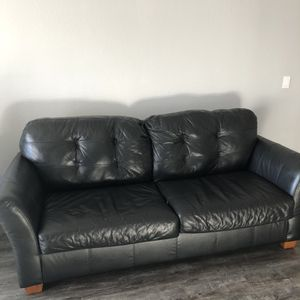 BLACK SOFA + LOVE SEAT + OTTOMAN for Sale in Aurora, CO