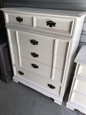 38w 17d 48h beautiful elegant white tall dresser furniture for Sale in Lake Elsinore, CA