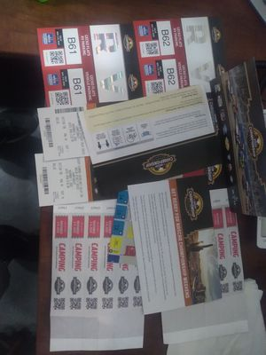 Nascar camping and race tickets for Sale in Payson, AZ