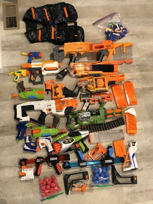 Nerf guns and accessories (all pictured) for Sale in Vancouver, WA