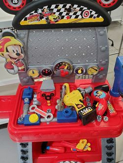 mickey roadster racers pit crew workbench for Sale in Miami,  FL