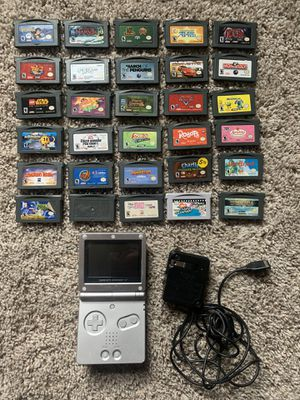 Nintendo Gameboy Advance SP w/ 30 games and charger for Sale in Monroeville, PA