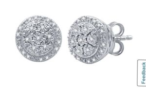 1/10 ct Genuine T.W. Diamond Stud Earring for Sale in Edinburg, TX