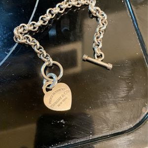 Tiffany 925 Heart Charm With Toggle Braclet for Sale in Fort Lauderdale, FL