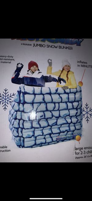 Inflatable jumbo snow bunker for Sale in Fontana, CA