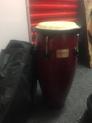 Red bongo set of drums best offer for Sale in The Bronx, NY