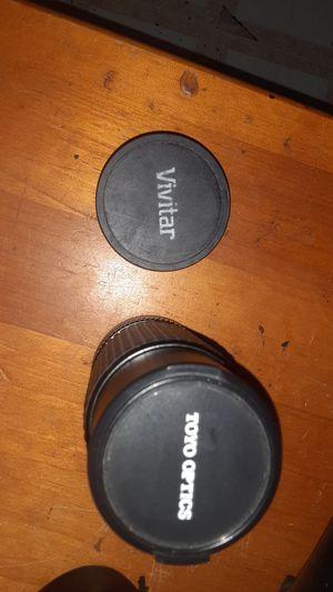Toyo optics camera lens and a vivitar camera liens for Sale in San Antonio, TX