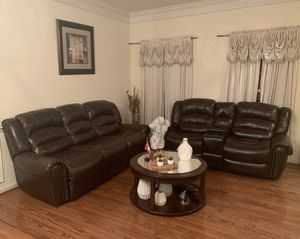 Faux Leather Couch Set for Sale in Gainesville, VA