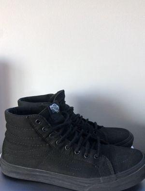 All Black Vans SK8-HI Shoes Men's Size 8 for Sale in Wauconda, IL