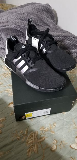Adidas Nmd R1 black silver mens size 13 DS for Sale in Escondido, CA