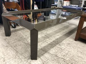 1980 GREY LACQUER COFFEE TABLE GLASS TOP ADDRESS IN AD for Sale in Los Angeles, CA
