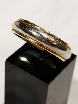 Men's Vintage Tiffany platinum and 18k ring band size 10 1/2 for Sale in San Francisco, CA