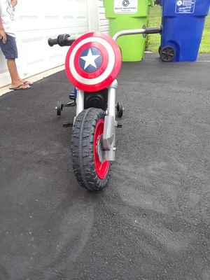 Captain America Power Wheel motorcycle $100 for Sale in Joppa, MD