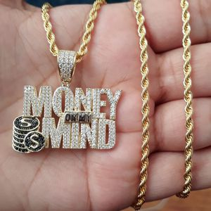 14k Gold Finish Icedout Money On Mind Necklace for Sale in Los Angeles, CA