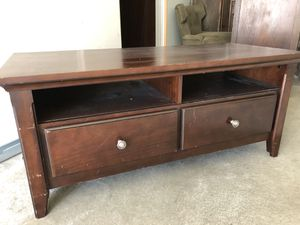 TV /entertainment stand. Both drawers on bottom work great. for Sale in Normandy Park, WA
