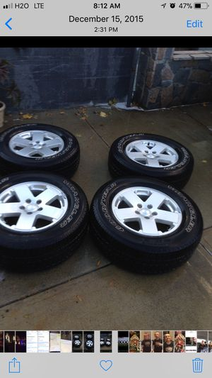 2010 Jeep Wrangler rims and tires for Sale in East Providence, RI